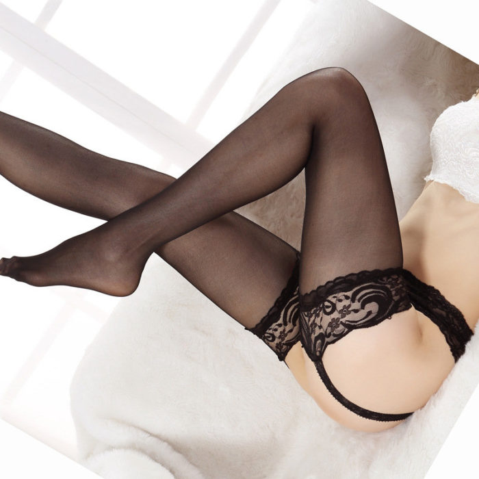 Mesh Sexy Lace Crocheted Stocking Garters Milf Lingerie
