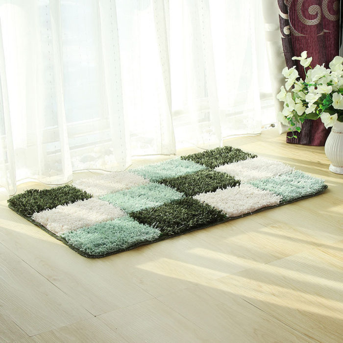 Microfiber Bathroom Carpet Floor Mats Anti-slip Water Absorbent Bedroom Carpet
