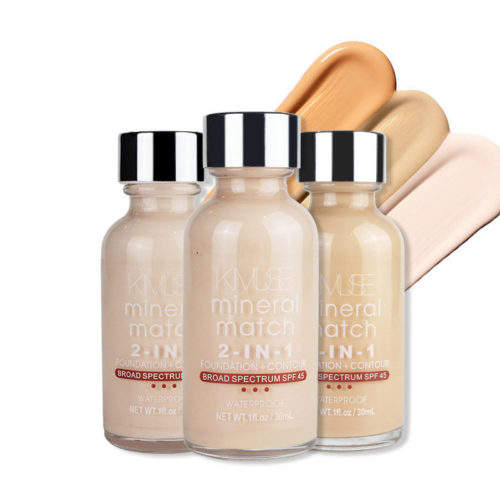 Mineral Liquid Foundation 2 IN 1 Moisturizing Concealer Foundation Lasting Waterproof Face Base