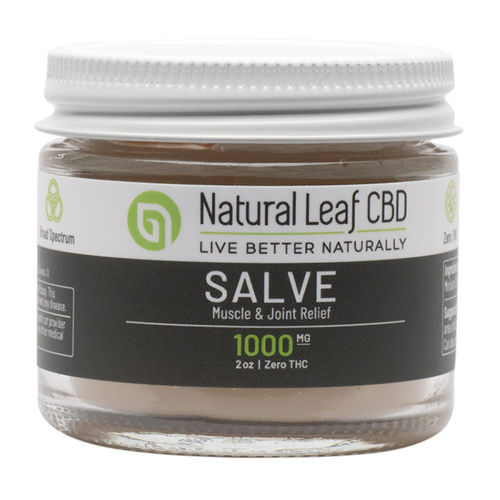 Muscle & Joint Relief Salve 1000 mg, Unscented, 2 oz, Natural Leaf CBD