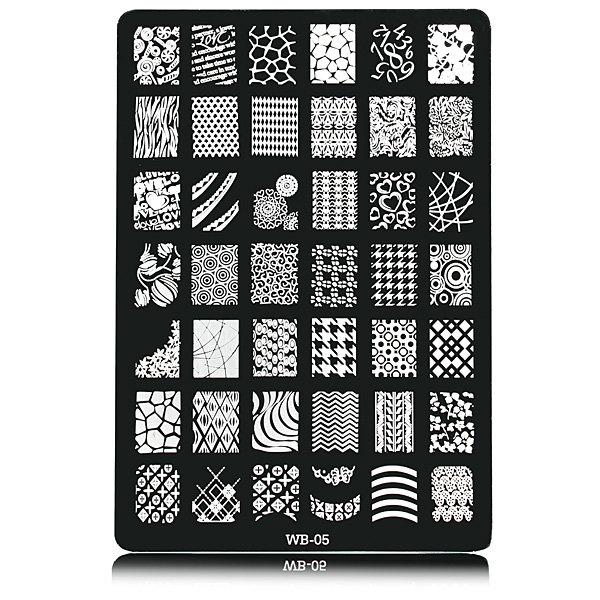 Nail Art Image Printing Plate Polish Stamping Template DIY Tips Design WB05
