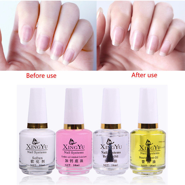 Nail Care Oil Set Nail Soften Gel Nail Base Oil Nail Brighten Oil Kit 4 Pcs Nail Care Nail Polish