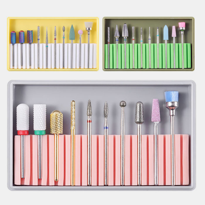 Nail Drill Bits Grinding Head Kit Electric Nail Drill Polishing Tools Multifunctional Polishing Head