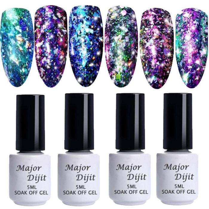 Phantom Fireworks Nail Gel Polish Glitter Chameleon Nail Gel Long-Lasting UV Gel DIY Manicure Art
