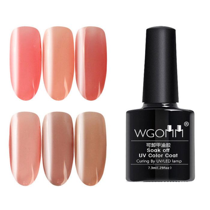 Pink Series Soak Off UV Gel Polish Curing By LED UV Lamp Nail Art