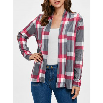 Plus Size Plaid Cardigan