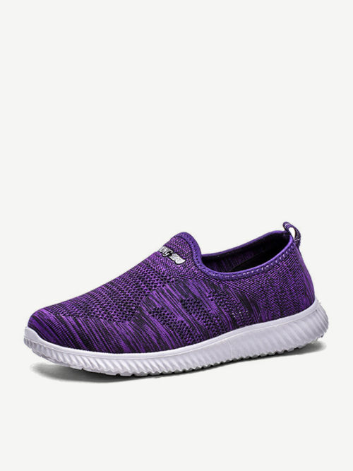 Plus Size Women Athletic Walking Mesh Slip On Flat Sneakers