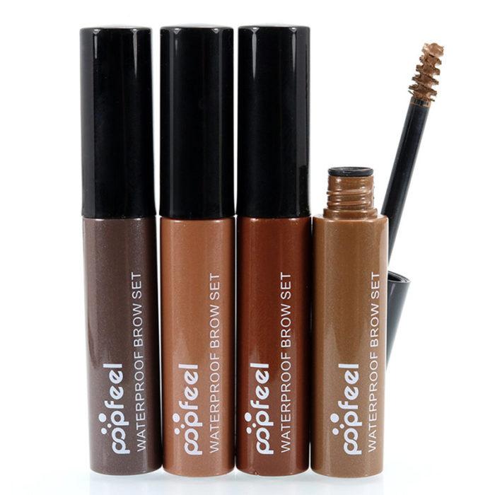 Popfeel Eyebrow Enhancer Gel Waterproof Long Lasting Eye Makeup ColoredBrown Black Coffee 4 Colors