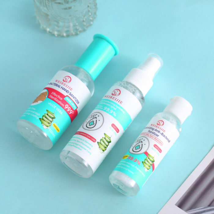 Portable No Rinse Sterilization Disposable Hand Sanitizer 99% Disinfection Water Spray