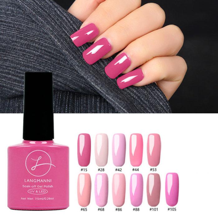 Princess Pink Nail Gel Polish Soak-off UV Gel Colorful Long-Lasting Nail Gel Varnish DIY Nail Art