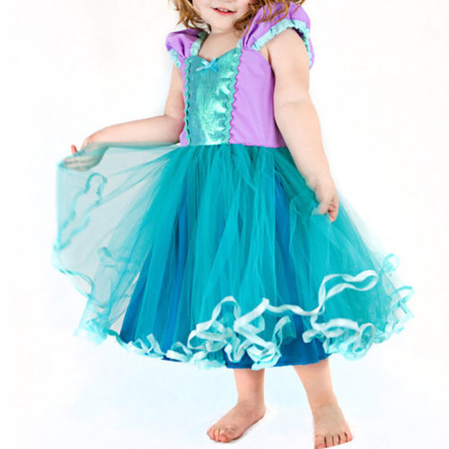 Princess Style Girls Party Dress For Cosplay Wedding Costume 2Y-9Y