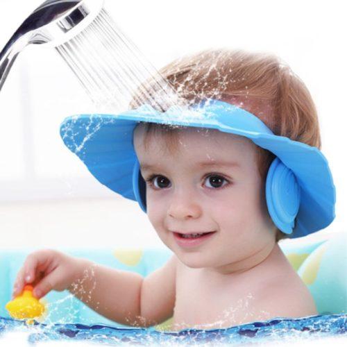Protect Ear Soft Caps Child Shampoo Shower Cap Bath Hat Adjustable Rubber