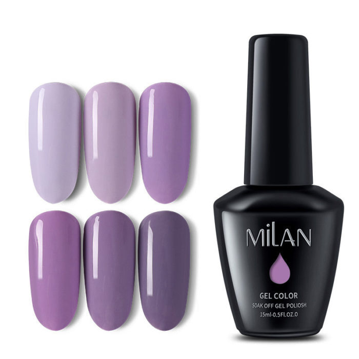 Purple Series Nail Gel Polish 15ML Natural Long-Lasting Nail Gel Soak-off UV Gel Nail Art DIY
