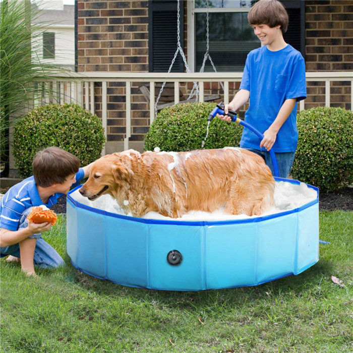 Pvc Pet Pool Collapsible Dog Bath Tub Outdoor Portable Paddling Bath Cat And Dog Cleaning Supplies