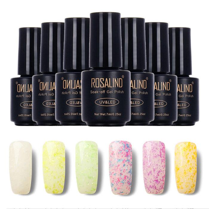 ROSALIND UV LED Gel Polish Nail Art Lacquer Long-Lasting Soak-off Varnish 24 Colors