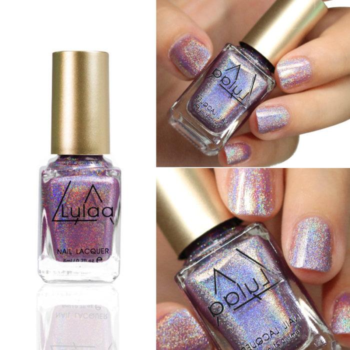 Safety Shimmer Nail Polish Long-Lasting Nail Lacquer Laser Glitter Nail Varnish Manicure Art