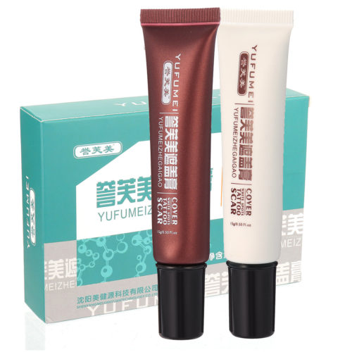 Scar Tattoo Concealer 2 Pcs Scar Cover Concealer Cream Lasting Prefect Cover Face Body Base Makeup