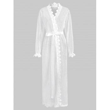 See Thru Lingerie Wrap Robe