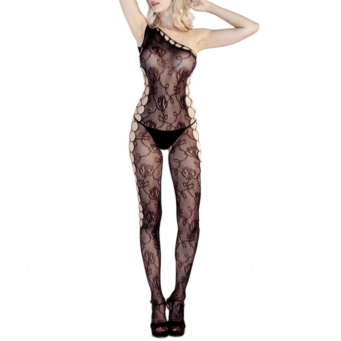 Sexy Lingerie Cut Out Single Straps See Through Bodystockings