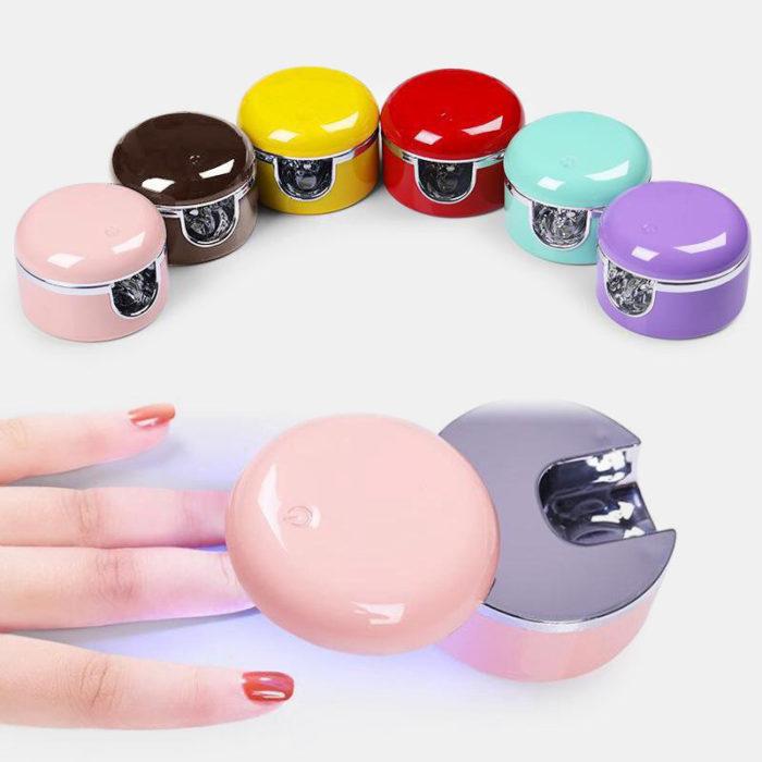 Single Finger Wireless Portable Mini Nail Lamp Quickly Curing Nail Polish Gel Phototherapy Lamp