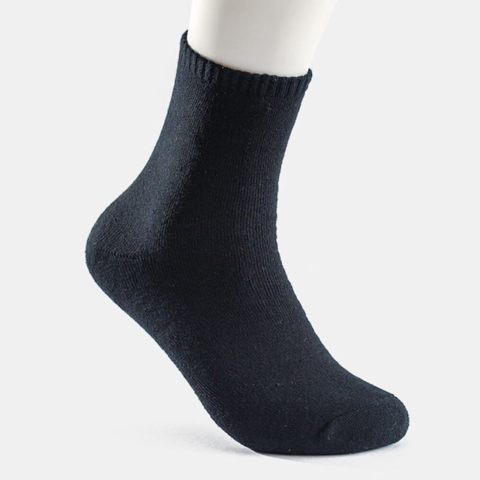 Socks Solid Color Business Terry Socks Thick Warm Men's Tube Cotton Soks