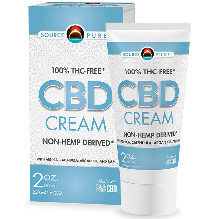 SourcePure CBD Cream, 2 oz, Source Naturals