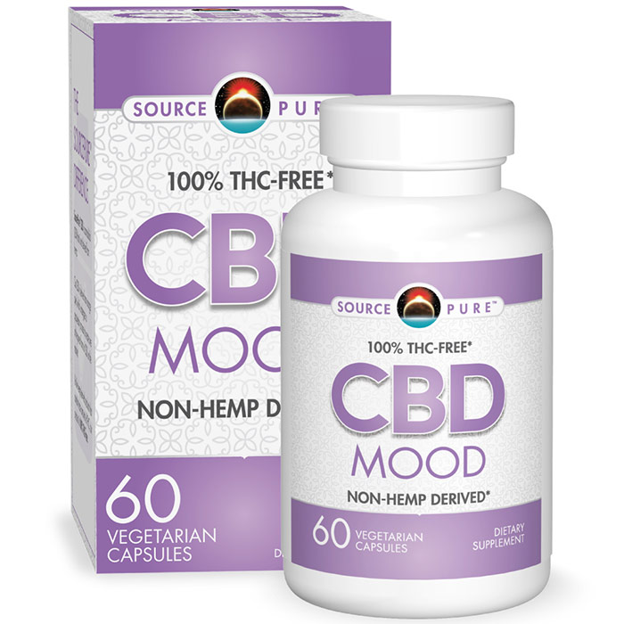 SourcePure CBD Mood, 60 Vegetarian Capsules, Source Naturals