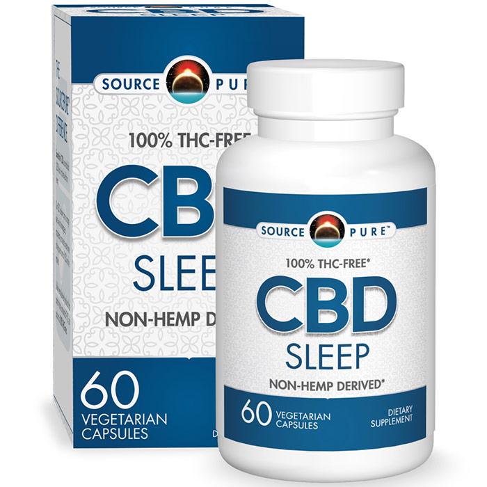 SourcePure CBD Sleep, 60 Vegetarian Capsules, Source Naturals