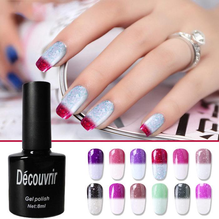 Thermal UV Gel Nail Art Mood Color Changing Polish Varnish 10ml