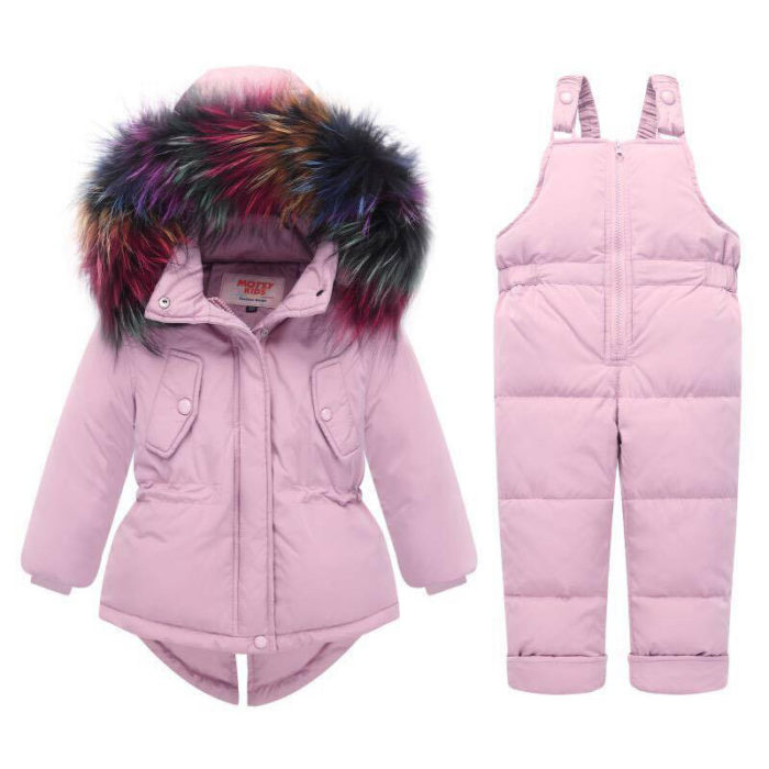 Thick Warm Unisex Baby Down Snow Outerwear Clothing Set For 0-36M