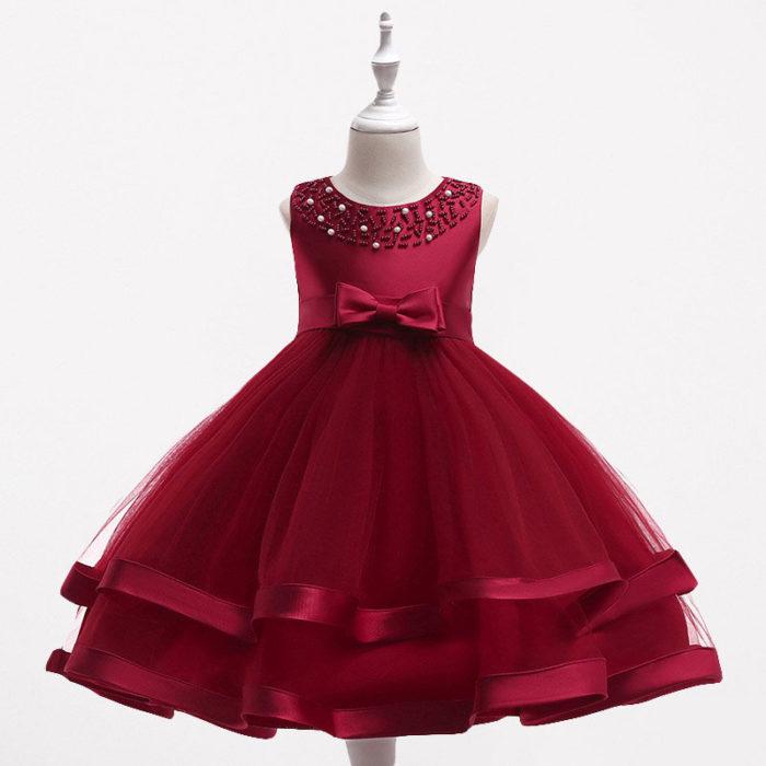 Toddler Christmas Dresses Girls Princess Dress For 4Y-13Y