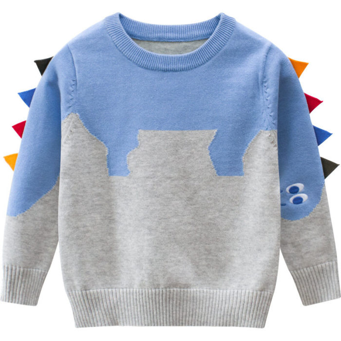 Toddler Girls and Boys Cute Dinosaur Casual Fall Winter Pullover Sweater For 2-11Y