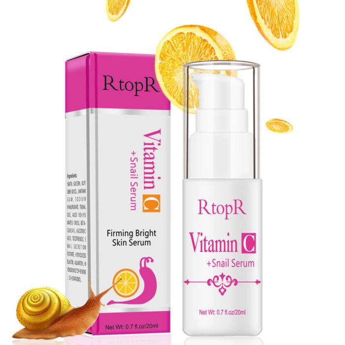 VitaminC Snail Essence Hydration Moisturizing Anti Wrinkle Firming Whitening Serum Face Care
