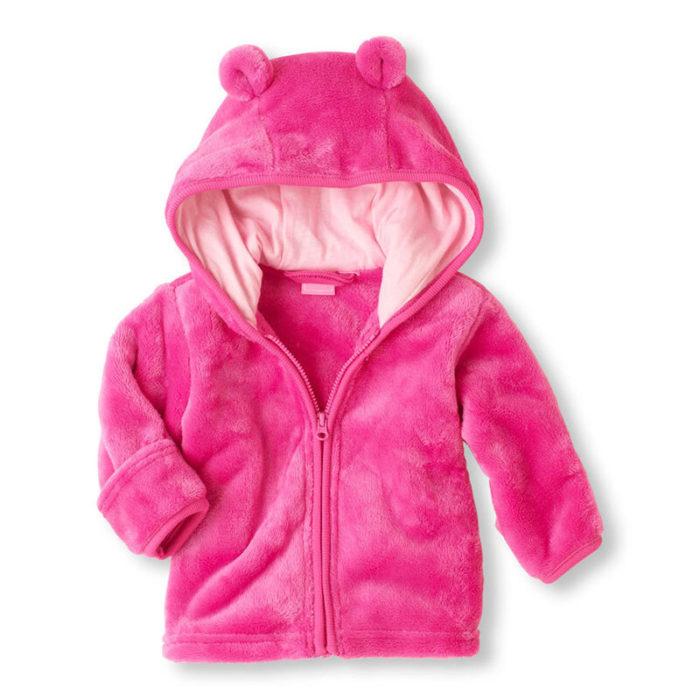 Warm Fleece Soft Kid's Boy's Girl's Winter Coat For 0-24 Months