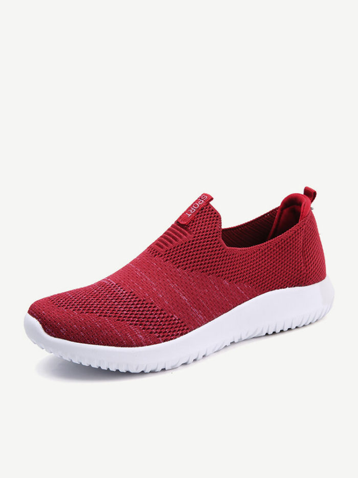 Women Breathable Outdoor Round Toe Slip On Flat Sneakers