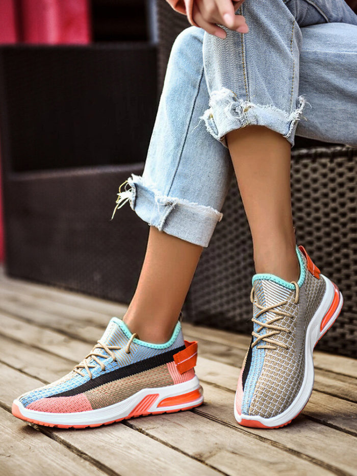 Women Colorful Mesh Cloth Running Comfortable Casual Sneakers