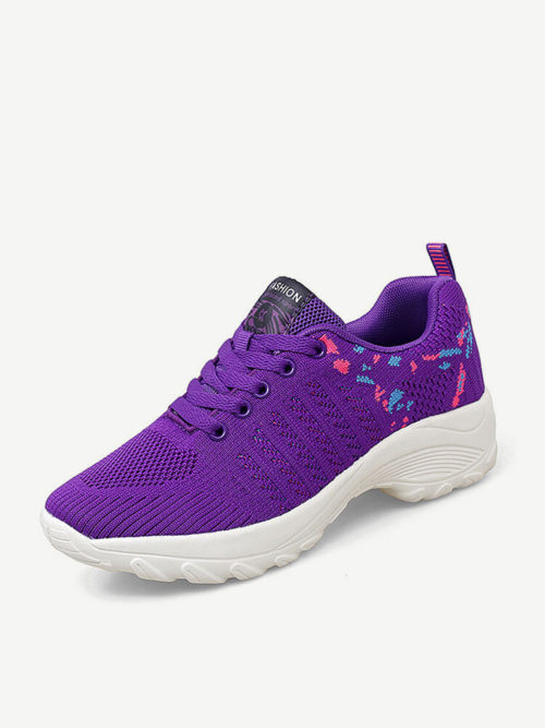 Women Knitted Comfy Breathable Cushioned Sports Casual Sneakers