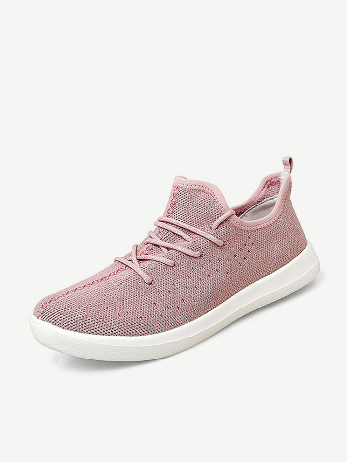 Women Knitted Lightweight Soft Sole Running Casual Sneakers