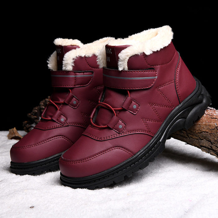 Women Large Size Outdoor Warm Slip Resistant Hook Loop Casual Boots