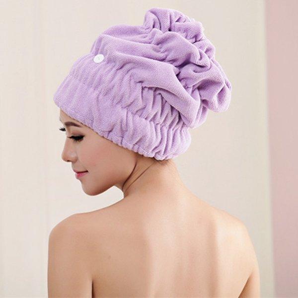 Women Magic Fast Hair Drying Towel Head Wrap Absorbent Makeup Cosmetics Cap Bath Tool