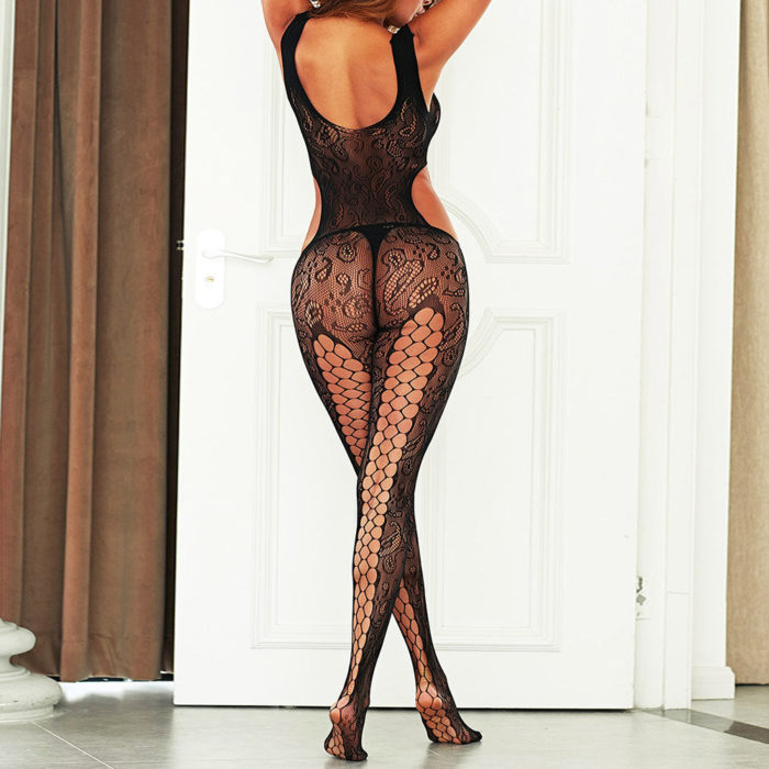Women Sexy Lingerie Cut Out Fishnet See Through Backless Bodystockings