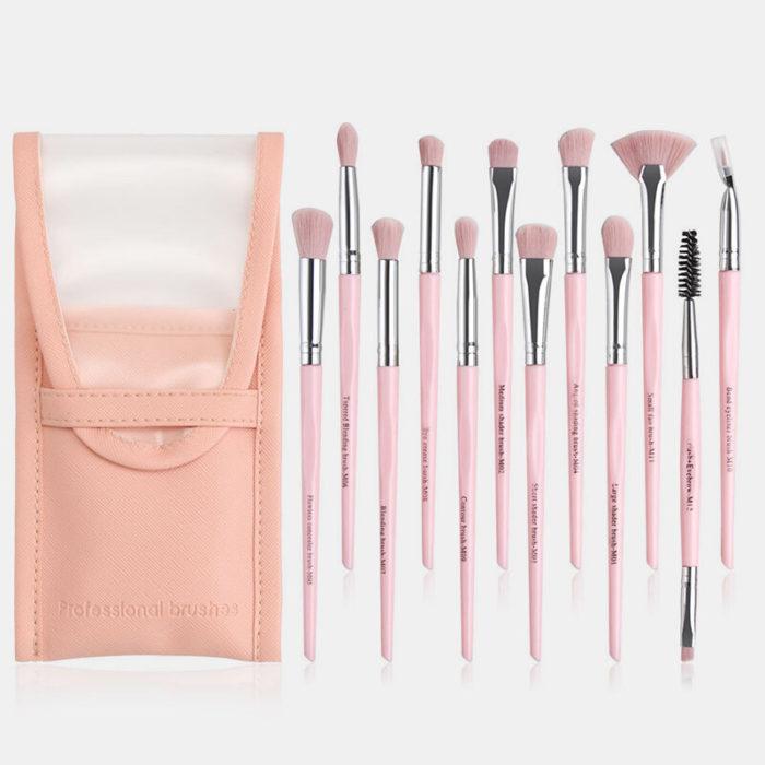 12 Pcs/Set Professional Makeup Brush Set Eye Shadow Blush Blending Brush Eye Beauty Makeup Brush Kit