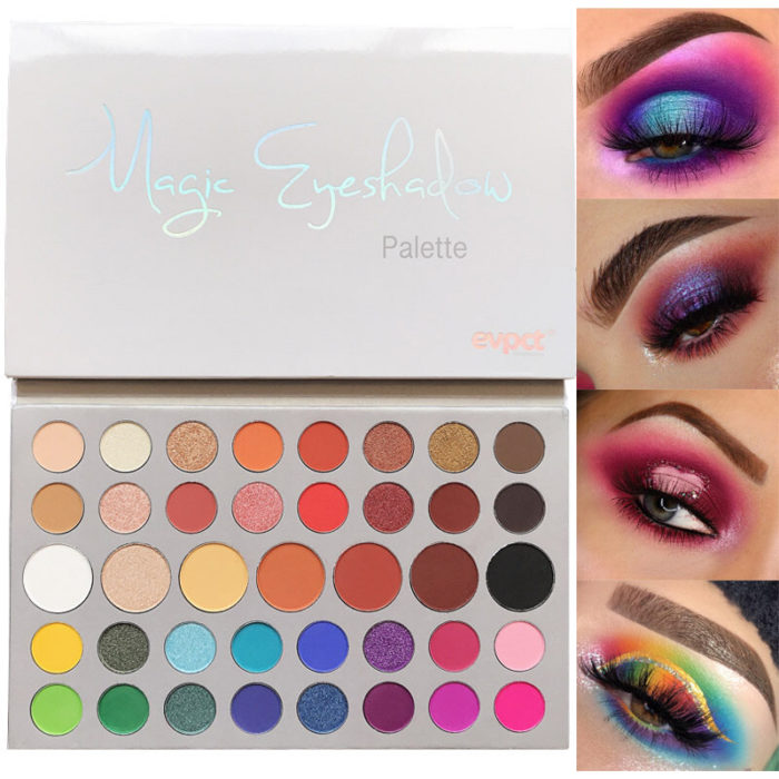 39 Color Eyeshadow Pearlescent Earth Color Shimmer Eye Shadow Palette Nature Smoky Matte Pallete Glitter Eye Makeup