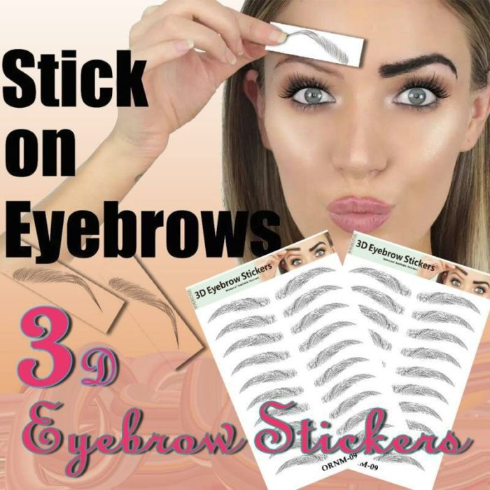 3D Hair-like Eyebrows Makeup Waterproof Lasting Eyebrow Tattoo Sticker Brow stickers False Eyebrows