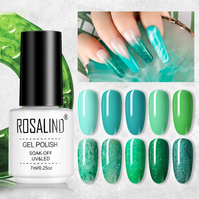 7ml Jade Green Color Series Nail Polish Gel Semi Permanent Phototherapy UV Gel Manicure Color Gel