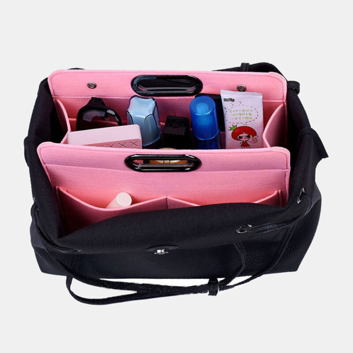 Felt Cosmetic Bag Ladies Multi-Function Felt Handbag Finishing Bag Portable Felt Storage Bag