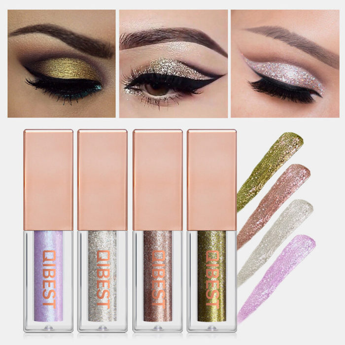 15 Colors Glitter Liquid Eyeshadow Portable Waterproof Lasting Pigmented Professional Eye Cosmetics