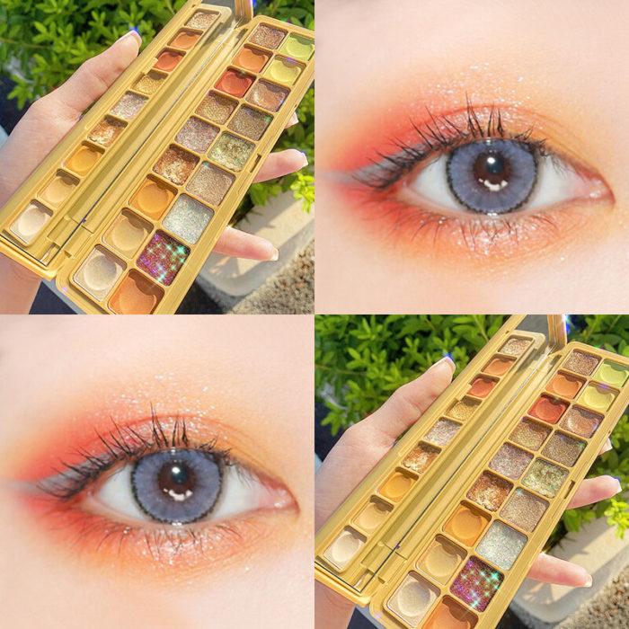 18 Colors Matte Eyeshadow Palette Portable Waterproof Fine Silky Eyeshadow Powder Eye Makeup