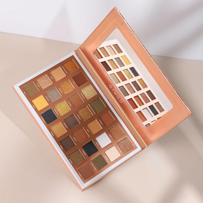28 Colors Velvet Eyeshadow Palette Portable Waterproof Fine Silky Nude Eyeshadow Powder