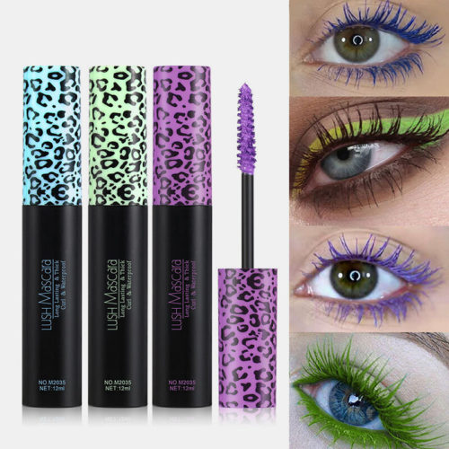 3D Colorful Mascara Long Curling Thick Waterproof Lasting Not Faded Eye Makeup